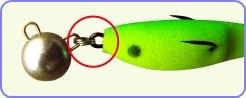 модифицырованный двойник соединяется с грузом одним заводным кольцом